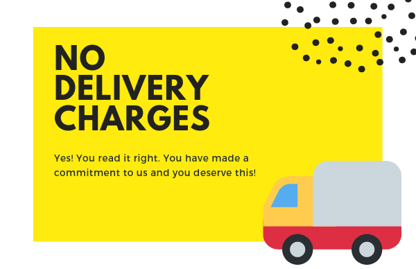 No Delivery Charges
